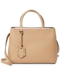 602dbc1c7166 Fendi 2jours Square Eyes Bag in Brown - Lyst