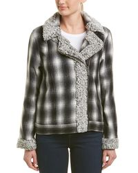 Vince Camuto - Plaid Flannel & Faux Shearling Jacket - Lyst