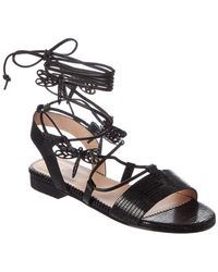 RED Valentino - Flying Up Leather Sandal - Lyst