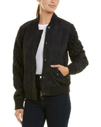 Michael Stars - Suede Bomber Jacket - Lyst