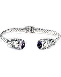 Samuel B. - 18k & Silver 3.60 Ct. Tw. Amethyst Koi Fish Bangle - Lyst