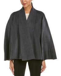 Elie Tahari - Leather-trim Wool Cape - Lyst