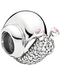 07bfac684 PANDORA Disney Jewelry Collections Silver Enamel Minnie Cupcake Charm in  Metallic - Lyst