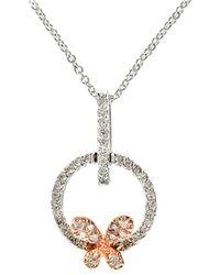 Effy - Fine Jewelry 14k Two-tone 0.21 Ct. Tw. Diamond Necklace - Lyst