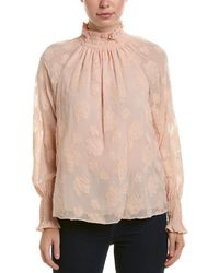 Rebecca Taylor - Clipped Silk-blend Top - Lyst