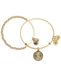 ALEX AND ANI - Path Of Life Expandable Wire Bangle Set - Lyst