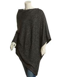 Portolano - Black Minerva Wool & Angora-blend Poncho - Lyst