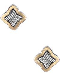 David Yurman - David Yurman Quatrefoil 18k & Silver Earrings - Lyst