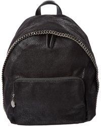 5c93ea9e7c91 Lyst - Stella McCartney Black Falabella Shaggy Deer Backpack in Black