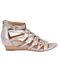 Söfft - Roslyn Leather Wedge Sandal - Lyst