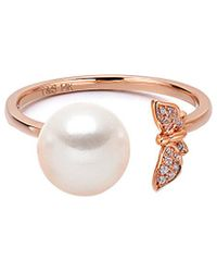 Tara Pearls - 14k Rose Gold Diamond Ring - Lyst