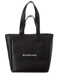 Balenciaga - East-west Medium Leather Tote - Lyst