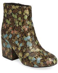 Charles David - Suede Floral High Heel Bootie - Lyst