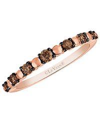Le Vian - ® Chocolatier® 14k Rose Gold 0.27 Ct. Tw. Diamond Ring - Lyst