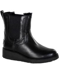 UGG - Laurelle Leather Ankle Sheepskin Boot - Lyst