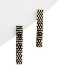 Lafayette 148 New York - 24k Plated Crystal Drop Earrings - Lyst