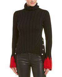 Alexander McQueen - Contrast Wool-blend Turtleneck Sweater - Lyst