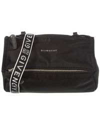 Givenchy - Mini Pandora Nylon Bag W/ Logo Strap - Lyst