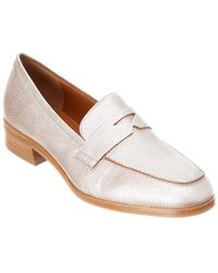f808e0c0a97 Lyst - Aquatalia Sharon Patent Leather Loafers in Brown