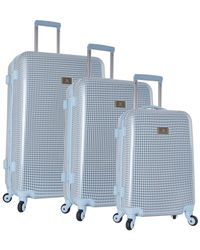Anne Klein - Manchester 3pc Herringbone Hardside Luggage Set - Lyst