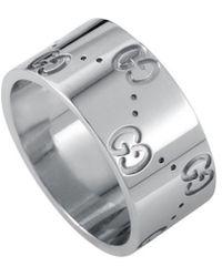BVLGARI - Gucci 18k White Gold Ring - Lyst