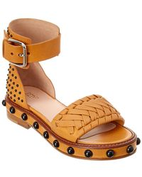 52e089b13a38 Red Valentino Studded Slides in Natural - Lyst