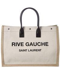 Saint Laurent - Noe Rive Gauche Canvas Tote - Lyst