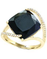 Effy - Fine Jewellery 14k 7.14 Ct. Tw. Diamond & Black Agate Ring - Lyst