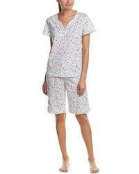 Karen Neuburger - 2pc Bermuda Short Pyjama Set - Lyst