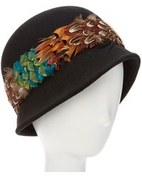 Giovannio - Couture Black Wool Cloche - Lyst