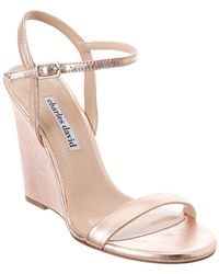 Charles David - Queen Suede Wedge Sandal - Lyst