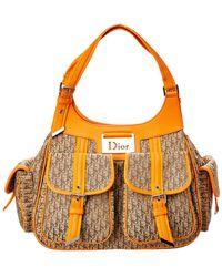 Dior - Orange Trotter Canvas Shoulder Bag - Lyst