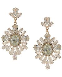 Sparkling Sage - 14k Plated Cz Drop Earrings - Lyst
