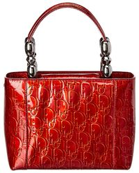 Dior - Red Trotter Patent Leather Small Malice - Lyst