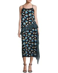 Anna Sui - Tulips & Deco Posey Shift Dress - Lyst
