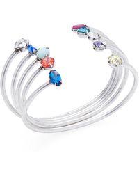 DANNIJO Set Of Five Silver Plated Amista Cuff Bracelets