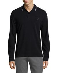Fred Perry - Long Sleeve Twin Tipped Polo - Lyst