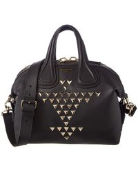 Givenchy - Nightingale Small Studded Leather Satchel - Lyst