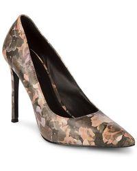 Pour La Victoire - Celeste Floral Leather Court Shoes - Lyst