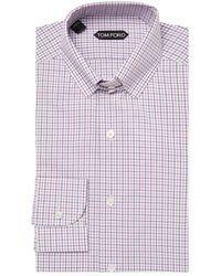 Tom Ford - Checkered Dress Shirt - Lyst