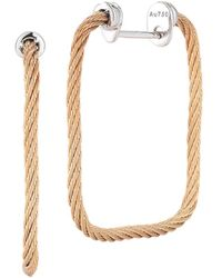 Alor - Classique 18k & Stainless Steel Cable Earrings - Lyst