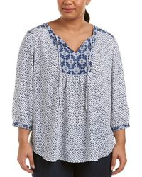 NYDJ - Plus Peasant Top - Lyst