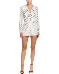 Romeo and Juliet Couture - Polka Dot Romper - Lyst