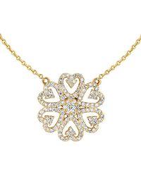 Ariana Rabbani - 14k 0.65 Ct. Tw. Diamond Heart Motif Necklace - Lyst
