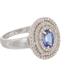 Effy - Fine Jewelry 14k 1.26 Ct. Tw. Diamond & Tanzanite Ring - Lyst