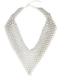 Saachi - Mesh Triangle Statement Necklace - Lyst