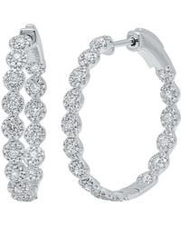 Diana M. Jewels - . Fine Jewellery 14k 1.58 Ct. Tw. Diamond Hoops - Lyst