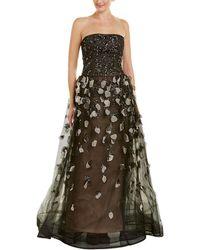 Carolina Herrera - Silk-blend Gown - Lyst