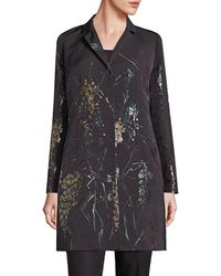 Lafayette 148 New York - Guenever Floral Topper Coat - Lyst