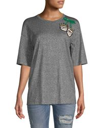 Dolce & Gabbana - Family Sequined T-shirt - Lyst